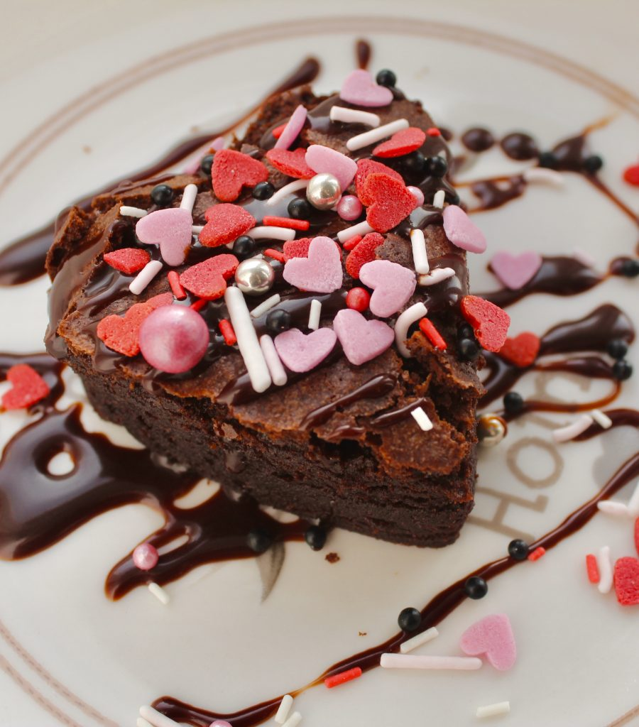Valentines chocolate brownie love bites heart dessert